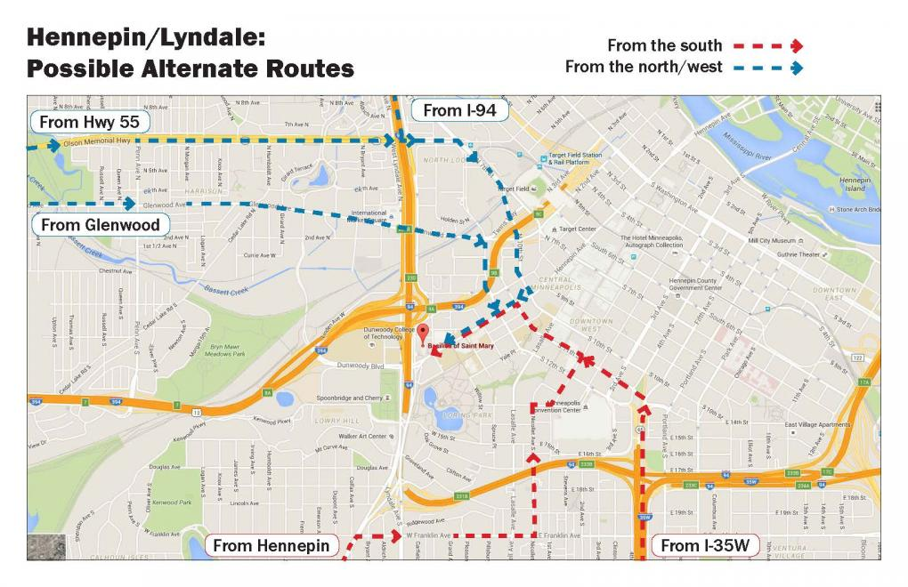 Alternate Traffic Routes Hennepin Lyndale Construction