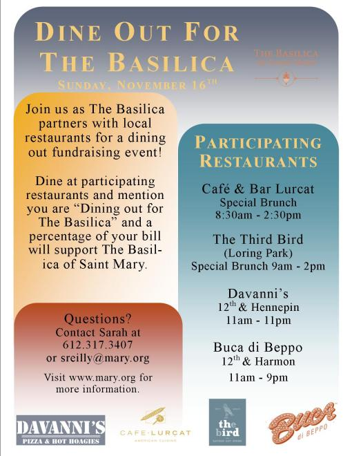 Dine of for The Basilica