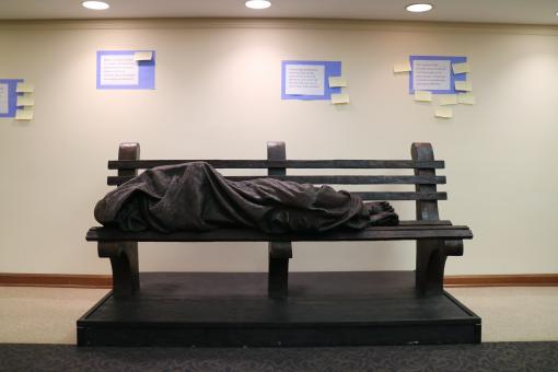 Homeless Jesus Sculpture-Wall of Conscious