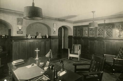 Photo Archive Historic Rector's Office 1928