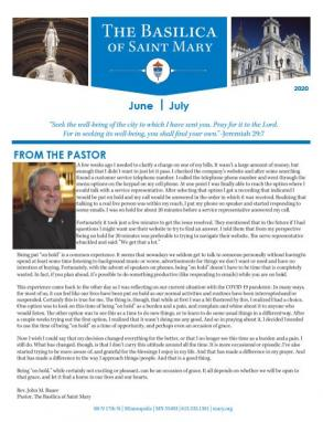 June July Bulletin cover 2020