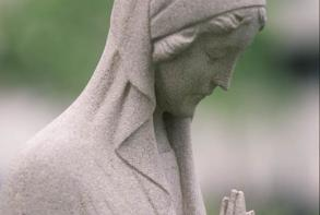 Photo Exterior Statue of Mary Comfort of the Afflicted