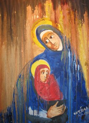 Painting of Our Lady of Ethiopia