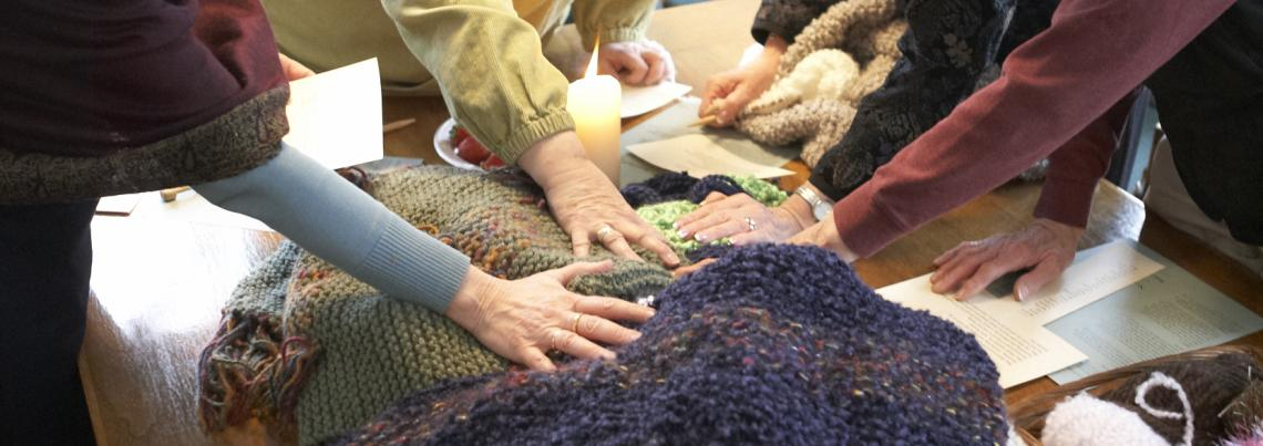 Prayer shawl volunteers