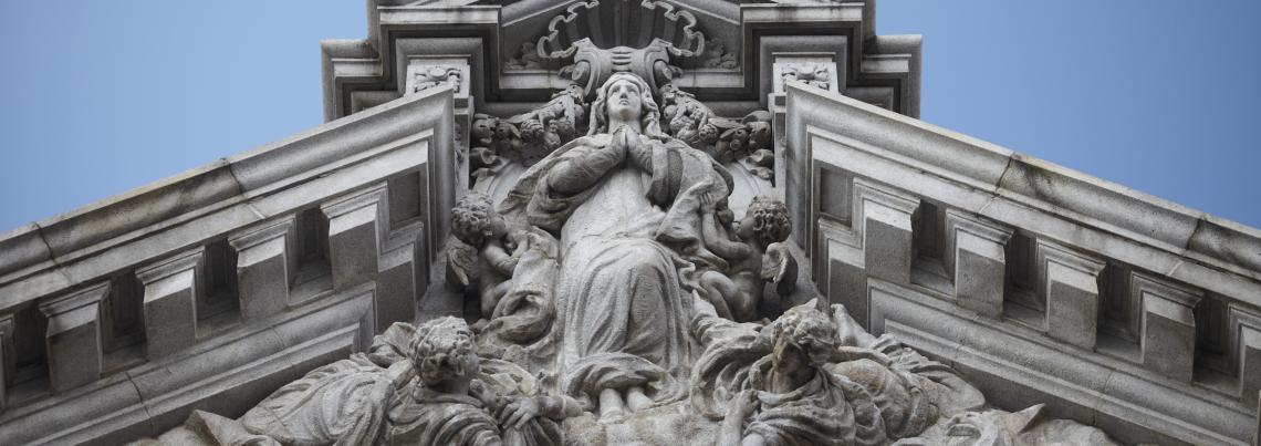 Assumption Statuary on Basilica Pediment