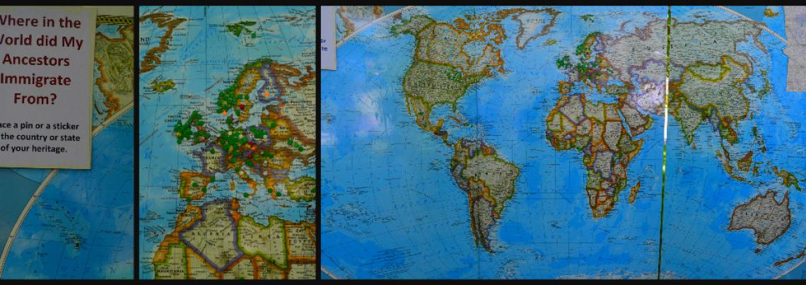 World Map Collage