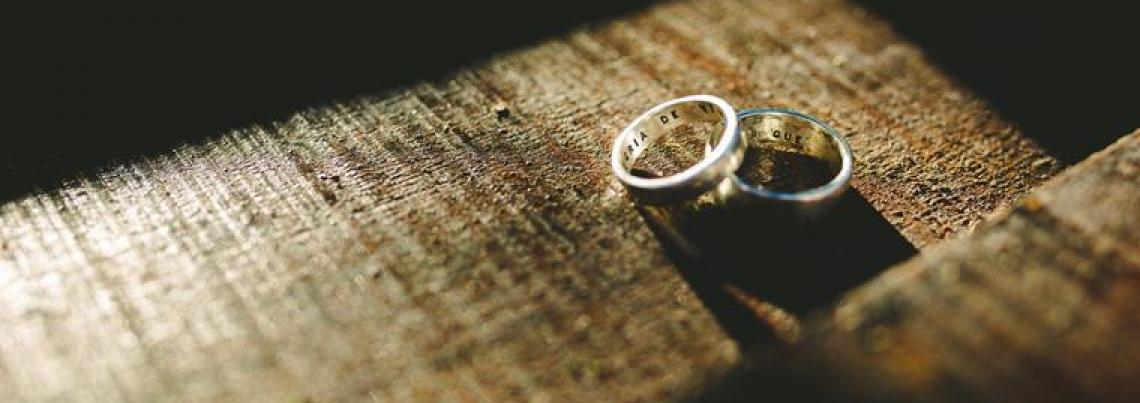 rings on wood surface