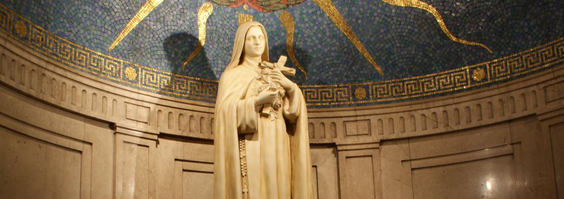 Photo Art Sculpture Interior Statue of St. Therese of Lisieux