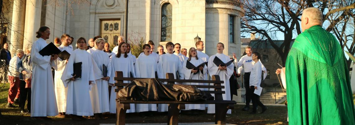 Homeless Jesus Dedication_schola