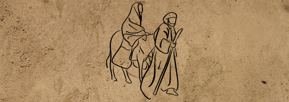 Holy family immigrant graphic