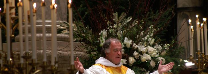 Joe Gillespie celebrating Easter Mass