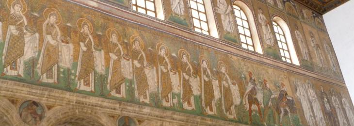 Mosaic of women saints in Ravenna