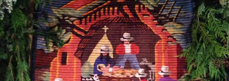 Peruvian tapestery of the Holy Family