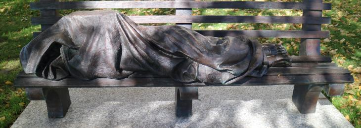 Homeless Jesus Fall