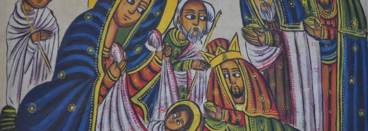 Ethiopian Adoration of the Magi. Paint on vellum.