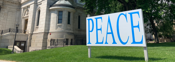 Peace sign web banner