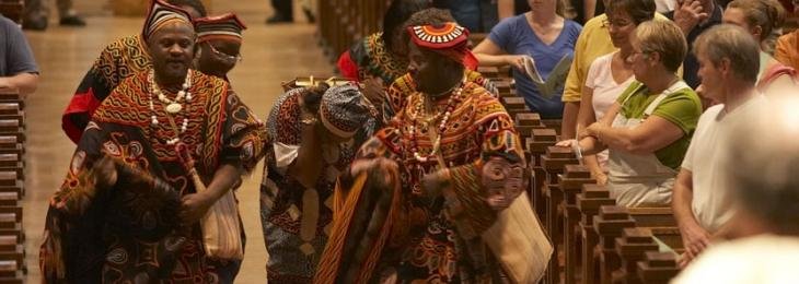 Cameroon Dancers during Gospel Procession