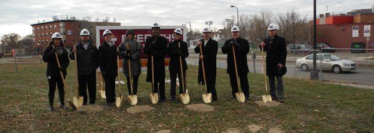 Ground Breaking for the West Broadway Crescent Housing Development