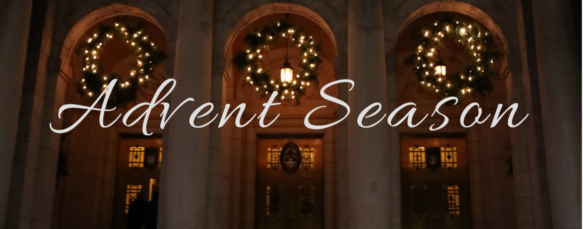 Advent season exterior web banner