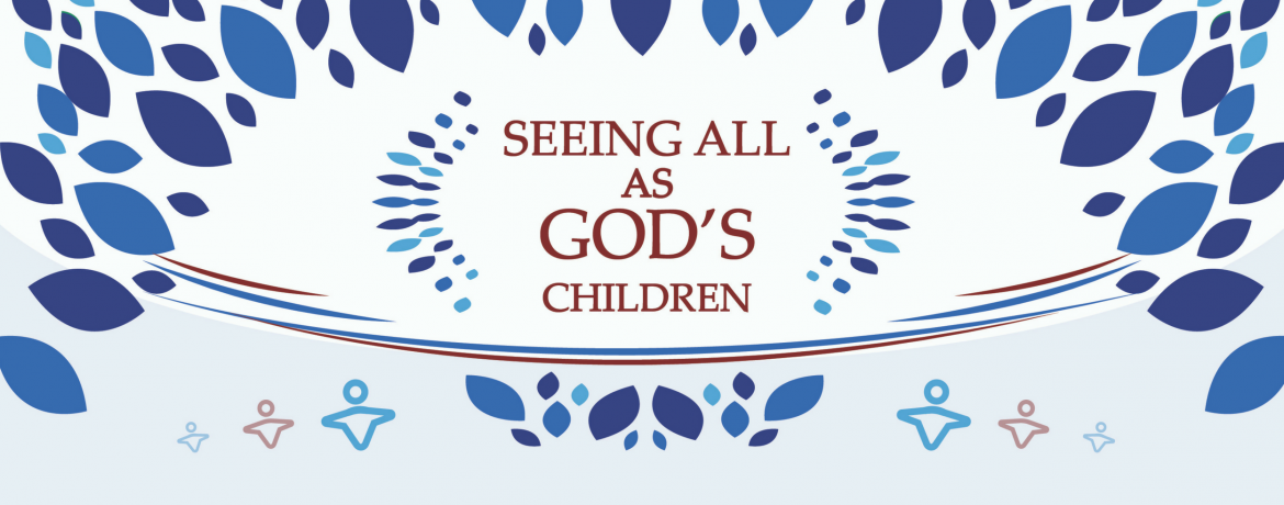Seeing all as gods children web banner