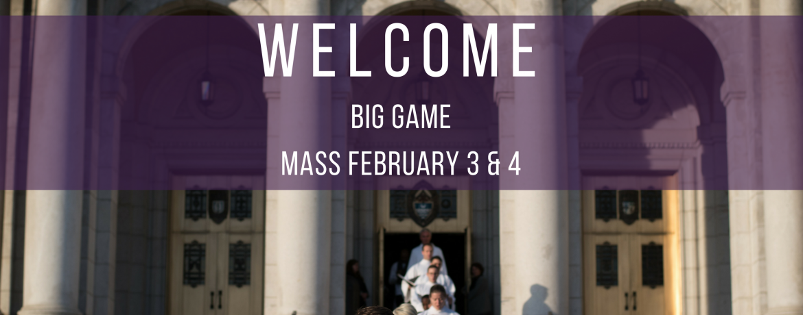 Super Bowl Mass Schedule Web Banner