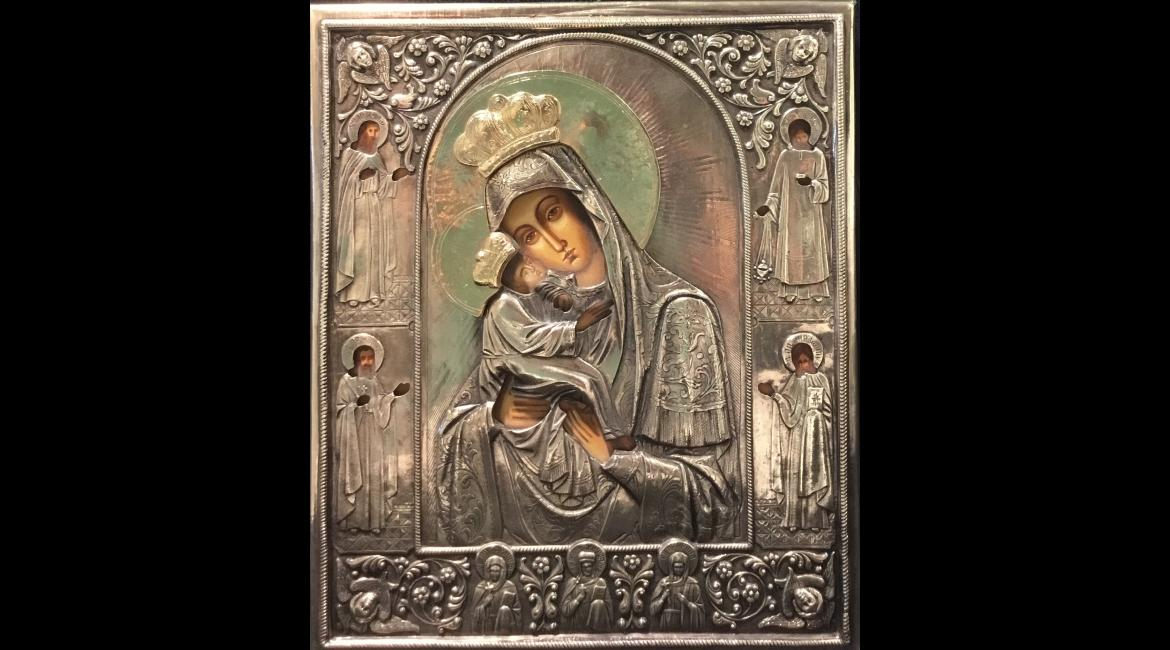 Enthroned or Reigning Icon of the Mother of God