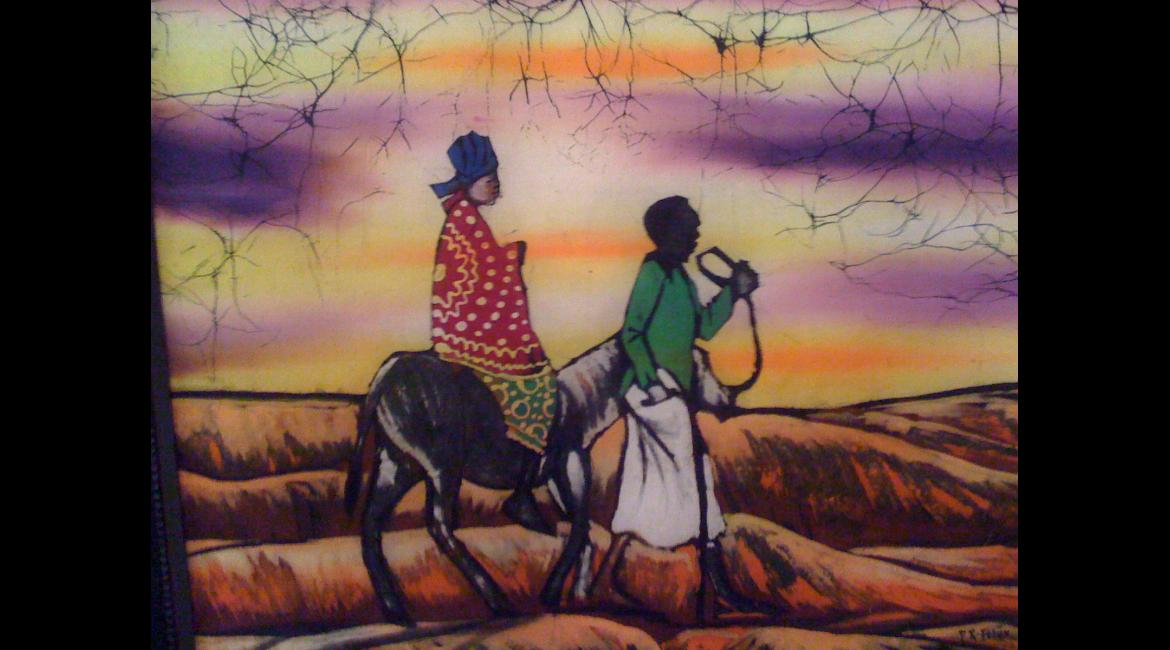 Tanzania batik, Flight into Egypt
