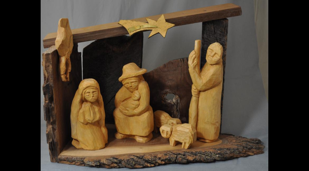 Carved Nativity, Mary Ann Osborne SSND