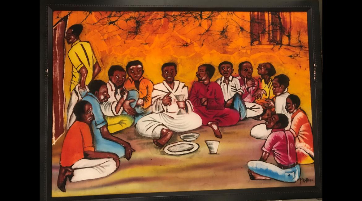 Last Supper, batik, Felix Msalu