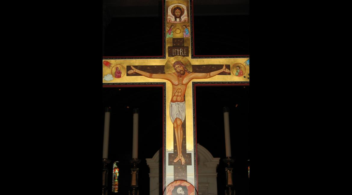 Crucifixion Processional Cross, Icon, Deb Korluka