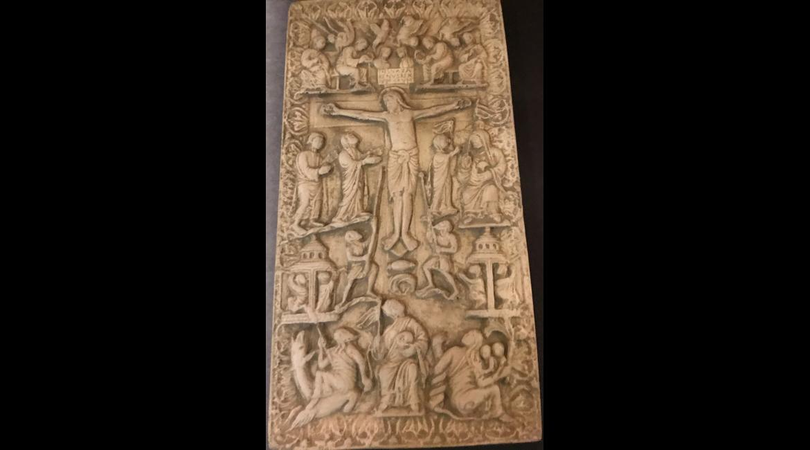Crucifixion, carved ivory